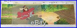 Disney Production Cels + Matching Pan Background Launchpad Mcquack Ducktales
