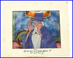 Disney Productions (1963) Hand Painted Animation cel Merlin Sword in the Stone