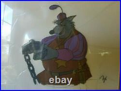 Disney ROBIN HOOD Original Production Cel, SHERIFF of NOTTINGHAM