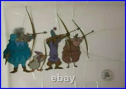 Disney Robin Hood Production Cel Of Archers 1973