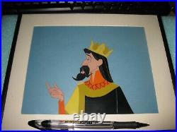 Disney Sleeping Beauty King Stefan Production Cel Framed