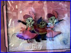 Disney THE GREAT MOUSE DETECTIVE Kissing Original Production Animation Cel 1986