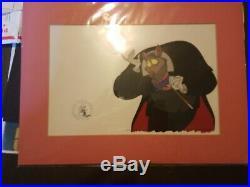 Disney THE GREAT MOUSE DETECTIVE Ratigan Original Production Animation Cel 1986