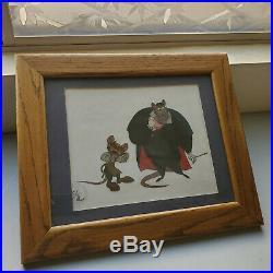Disney The Great Mouse Detective Original Production Cel Ratigan Flaversham