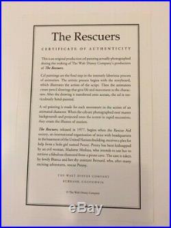 Disney The Rescuers Original Production Cel OPC Bernard 1977