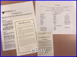 Disney The Rescuers Original Production Cel OPC Orville 1977