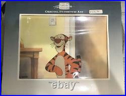 Disney Tv Original Production Drawing And Cel Of Tiger From Winnie The Pooh
