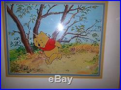 Disney Winnie The Pooh Original Production Cel With Production Overlay