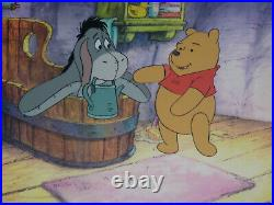 Disney Winnie The Pooh Original Tv Production Cel & Clean-up Animation Drawing