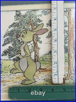 Disney Winnie The Pooh Rabbit Production Animation Cel 1983