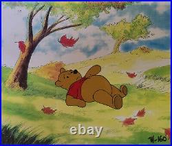 Disney Winnie the Pooh Lying Down Original Production Cel