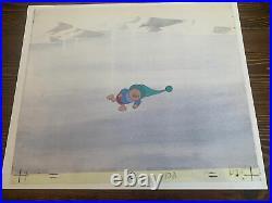 Disney Winnie the Pooh Piglet Original Art Animation Production Painted Cel