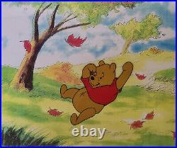 Disney Winnie the Pooh Sliding Original Production Cel
