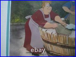 Disney's Little Mermaid Movie Production Cel Wash Women doing Laundry