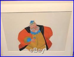 Disney's Sleeping Beauty King Hubert Gold Art Corner Original Production Cel