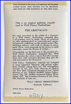 Disney's THE ARISTOCATS, 1970 Original Production Cel Roquefort