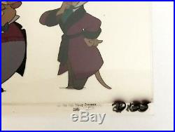 Disney's THE GREAT MOUSE DETECTIVE PRODUCTION CEL Basil, Dawson & Kitty