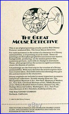 Disney's The Great Mouse Detective Original Production Cel Ratigan