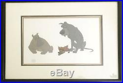 Disney's feature Oliver Hand painted production Cel Tito, Einstein & Frankie