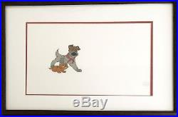 Disney's feature Oliver Original hand inked/painted production Cel Dodger