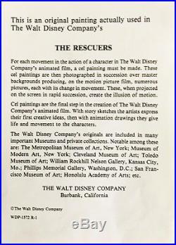 Disney's feature The Rescuers Original hand painted production Cel Bianca