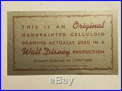 Donald Duck Cel-Hand Painted-Walt Disney Production 1959