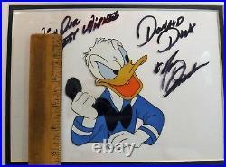 Donald Duck Disney Art Corner Production Cel Signed Tony Anselmo 1950s Angry
