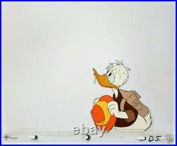 Donald Duck Disney Fanta Commercial Production Cel 1980s