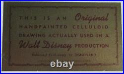 Donald Duck & Rooster Disneyland Gold Sticker Disney Production Cel 1940-50