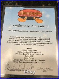 Donald duck Original Production Cel