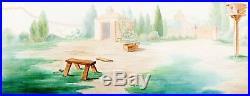 Donalds Dog Laundry 1940 Original PAN Production Background obg cel Disney Pluto