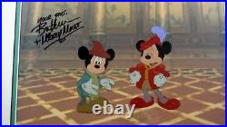 Double Mickey Original Disney Production Cel Prince Pauper Signed Bret Iwan