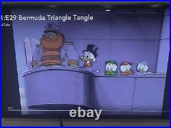 Ducktales Animation cel and Production Background Scrooge Huey, Dewey, and Louie