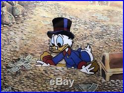 Ducktales, Scrooge McDuck, Disney Cel, Production, Barks Signed, With Disney Seal/COA