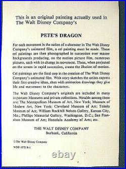 Elliot Pete's Dragon 1977 Disney Animated Film Hand Painted Production Cel