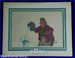 FANTASTIC RARE 1980 DISNEY FOX AND THE HOUND PRODUCTION CEL Widow Tweed SWEET