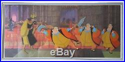 FOUR Production Cels of King Stefan and King Hubert from Disney Sleeping Beauty