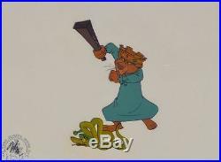 Fantastic 1973 Disney Robin Hood Production Cel! Awesome Image Ex Condtion