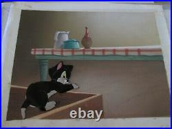 Figaro and Cleo production Cel on Background set up Disney 1943