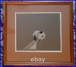 Framed Disney Original Production Animation Cel Colonel (101 Dalmations 1961)