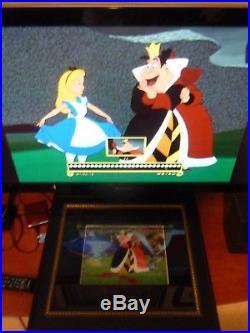 Framed Original Production Animation cel Disney's Alice in Wonderland. Queen