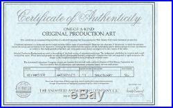 Gargoyles Disney Original TV Production Cel Framed Key Master Orig Background