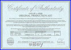 Gargoyles Disney Original TV Production Cel Framed with Cert NEW and Drawing