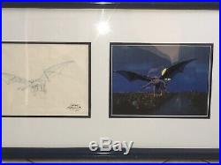 Gargoyles Original Production Cel & Clean-up Drawing From The Episode Temptation