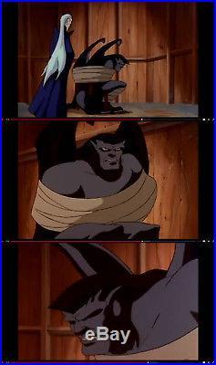 Gargoyles production cel of Goliath from season 3, episode 12