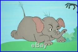 Goliath II Walt Disney Vintage Original Production Cel Animation Art 1960 Rare