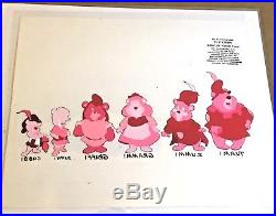 Gummi Bears (1985) ANIMATION production cel Disney model Cubbi Gruffi Tummi