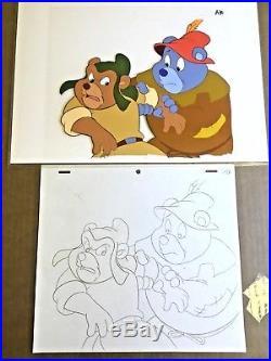 Gummi Bears (1985) Original production cel Gruffi Tummi animation art Disney