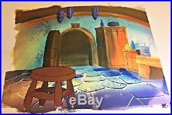 Gummi Bears (1985) Production Cel Disney animation original art Tummi background