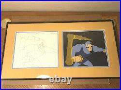 Gummi Bears (1985) Production cel and matching drawing animation Disney art